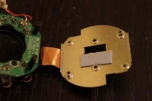 Internal heat sink/pads